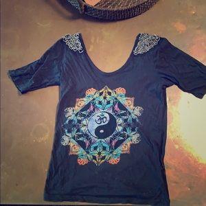 Black om shirt